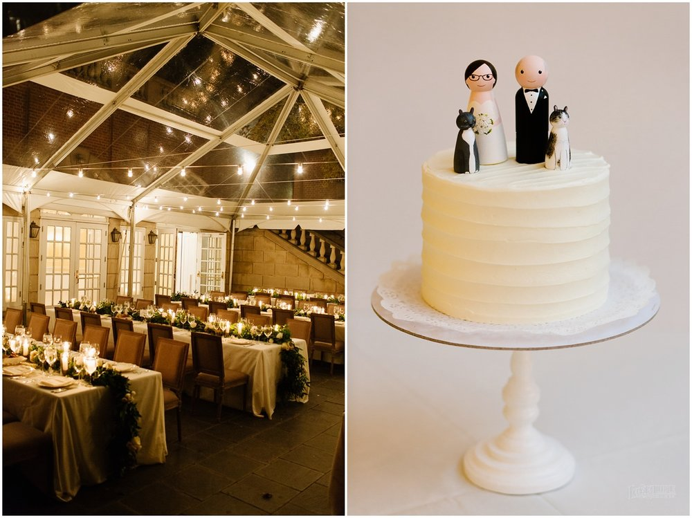 Dumbarton House wedding reception decor and cake.jpg