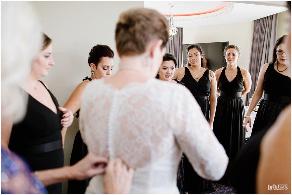 W Hotel DC wedding bride getting dress on.jpg