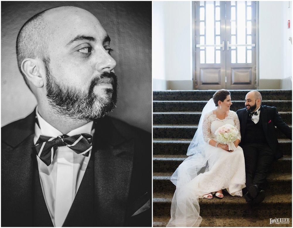 W Hotel DC wedding portrait on stairs.jpg