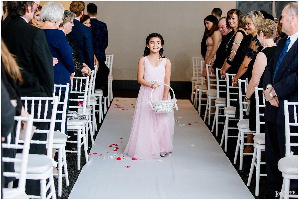 W Hotel DC wedding flower girl in pink dress.jpg
