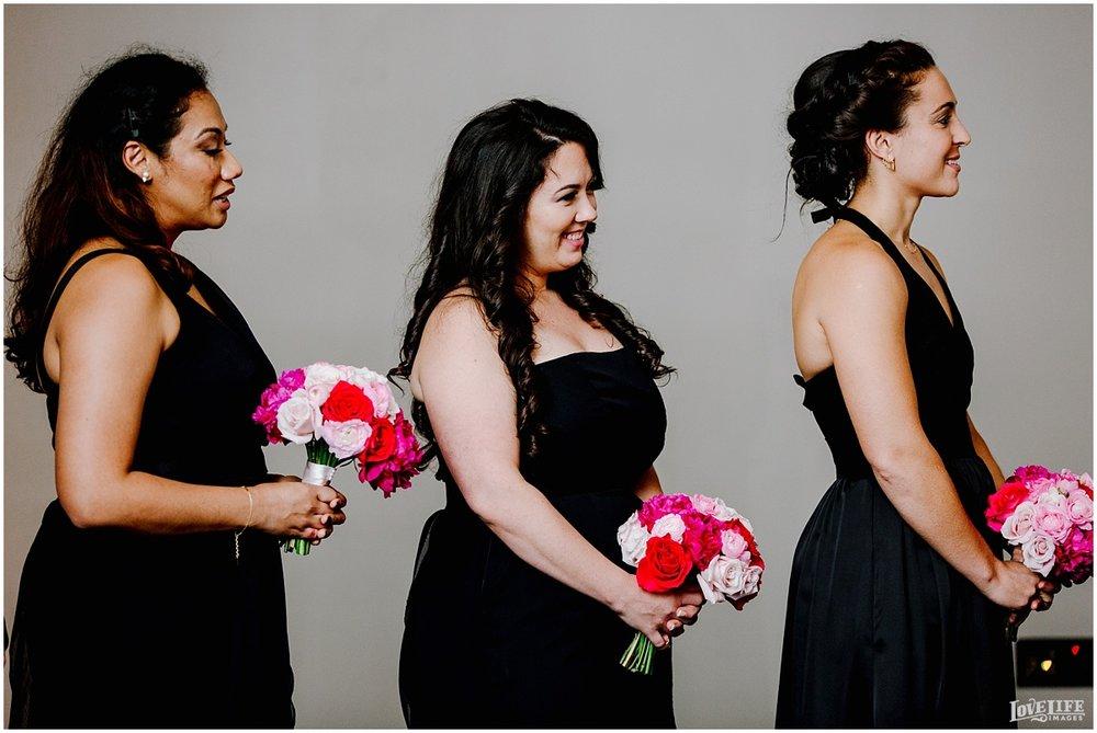 W Hotel DC wedding bridesmaids in black dresses.jpg