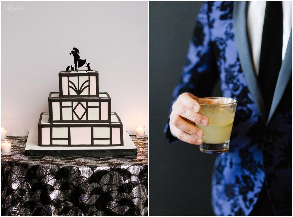 W Hotel DC wedding geometric cake.jpg