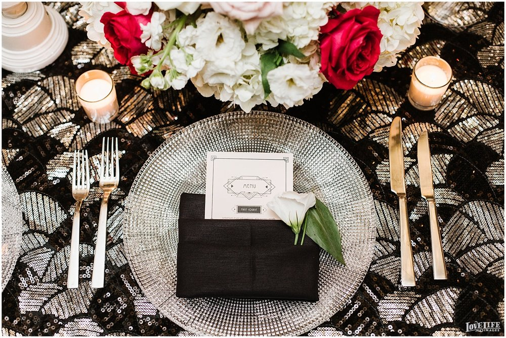 W Hotel DC wedding black and silver sequined reception placesetting.jpg