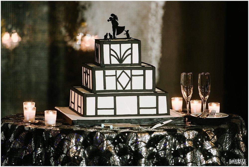 W Hotel DC wedding black and white geometric cake.jpg
