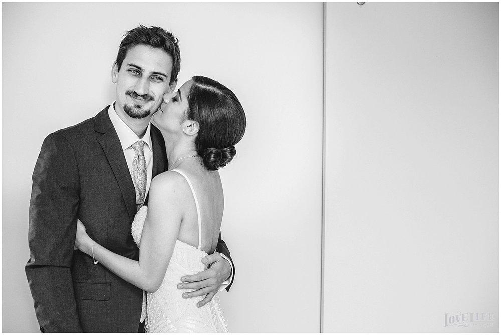 Pinstripes DC Wedding bride and groom black and white portrait.jpg