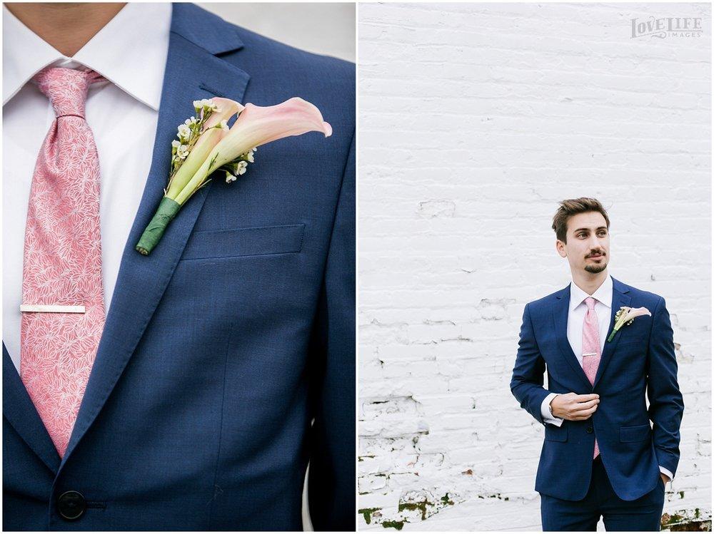 Pinstripes DC Wedding groom portrait.jpg