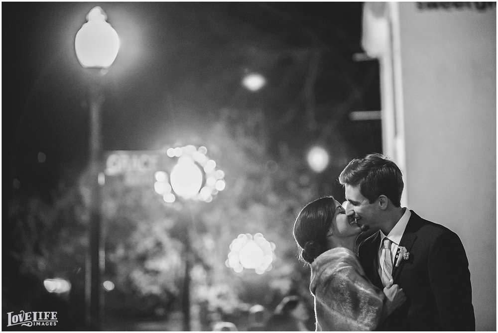Pinstripes DC Wedding nighttime bride and groom portrait.jpg