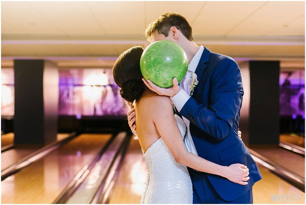 Pinstripes DC Wedding bride and groom bowling.jpg