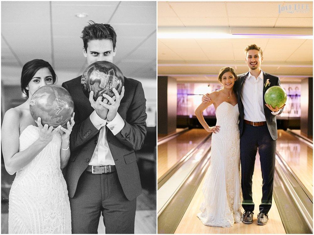 Pinstripes DC Wedding bride and groom bowling alley.jpg