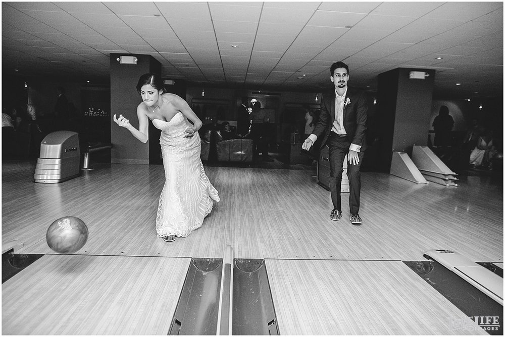 Pinstripes DC Wedding bowling bride and groom.jpg