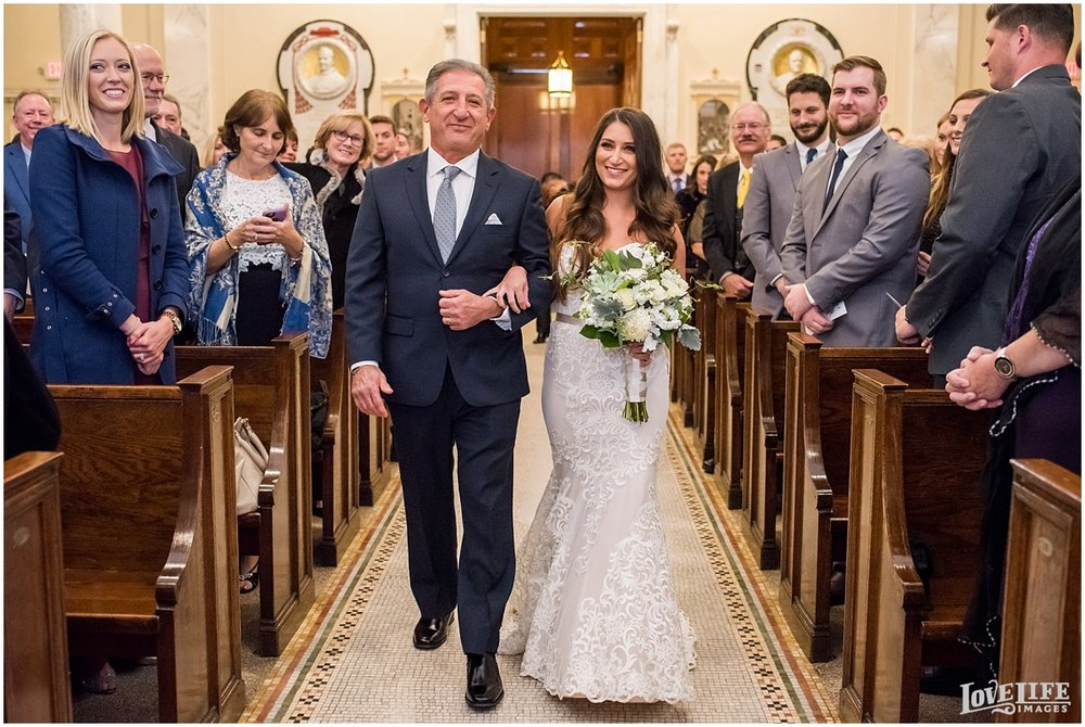 Malmaison DC Wedding bride and father processional at church.jpg
