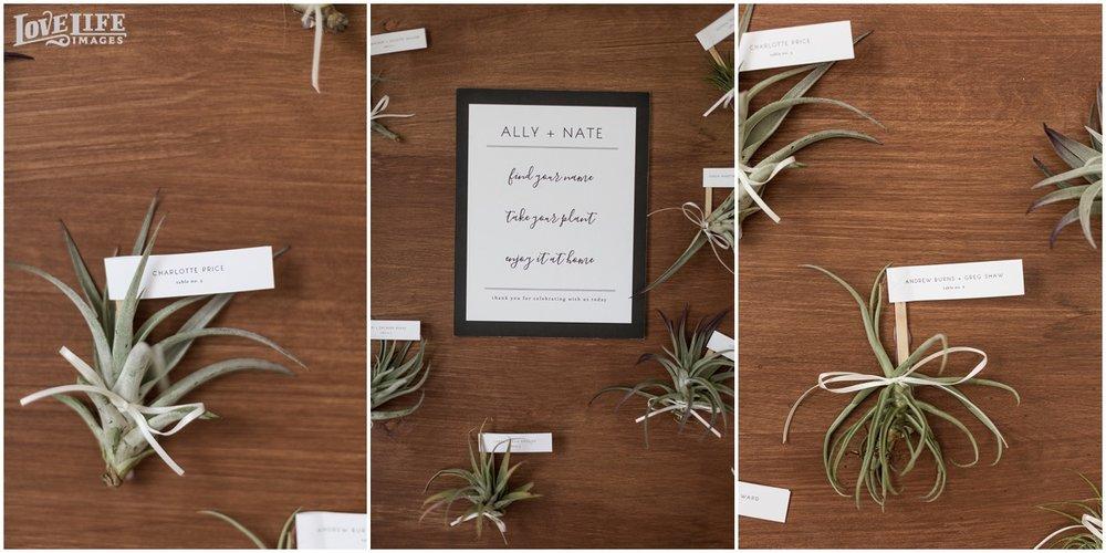 Eco wedding escort cards and favors.jpg