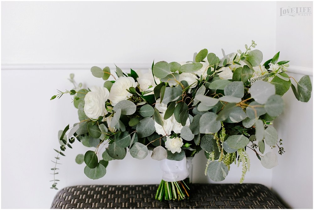 District Winery Winter Wedding white and green bridal bouquet.JPG