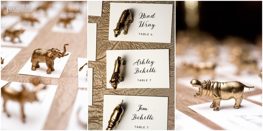 District Winery Winter Wedding gold animal figurine escort cards.JPG