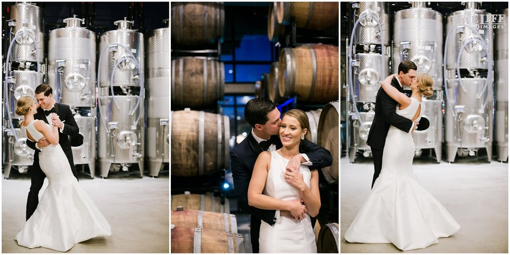 District Winery Winter Wedding bridal portraits with wine barrels.JPG