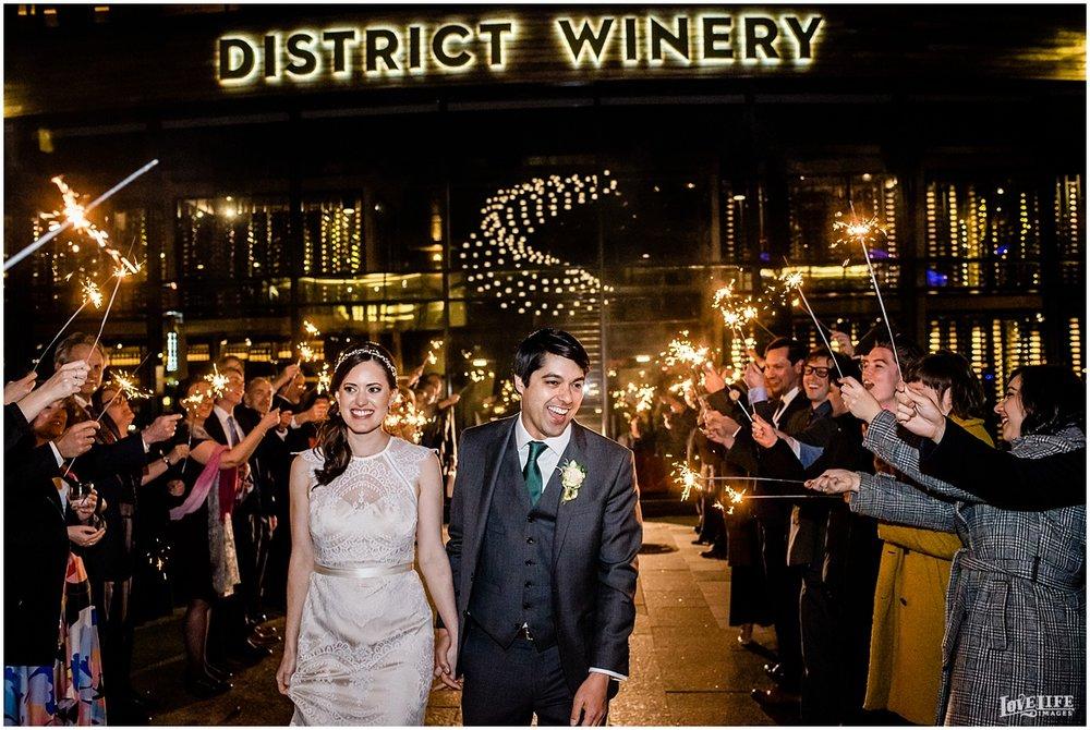District Winery DC Wedding sparkler exit.jpg