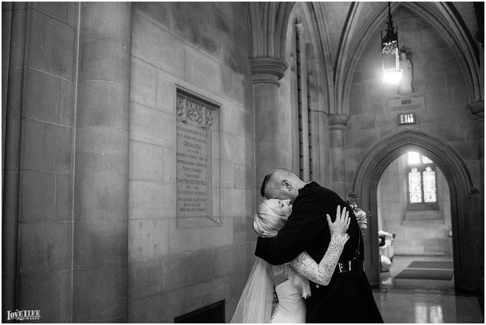Cosmos Club DC Wedding bride and groom hugging.jpg