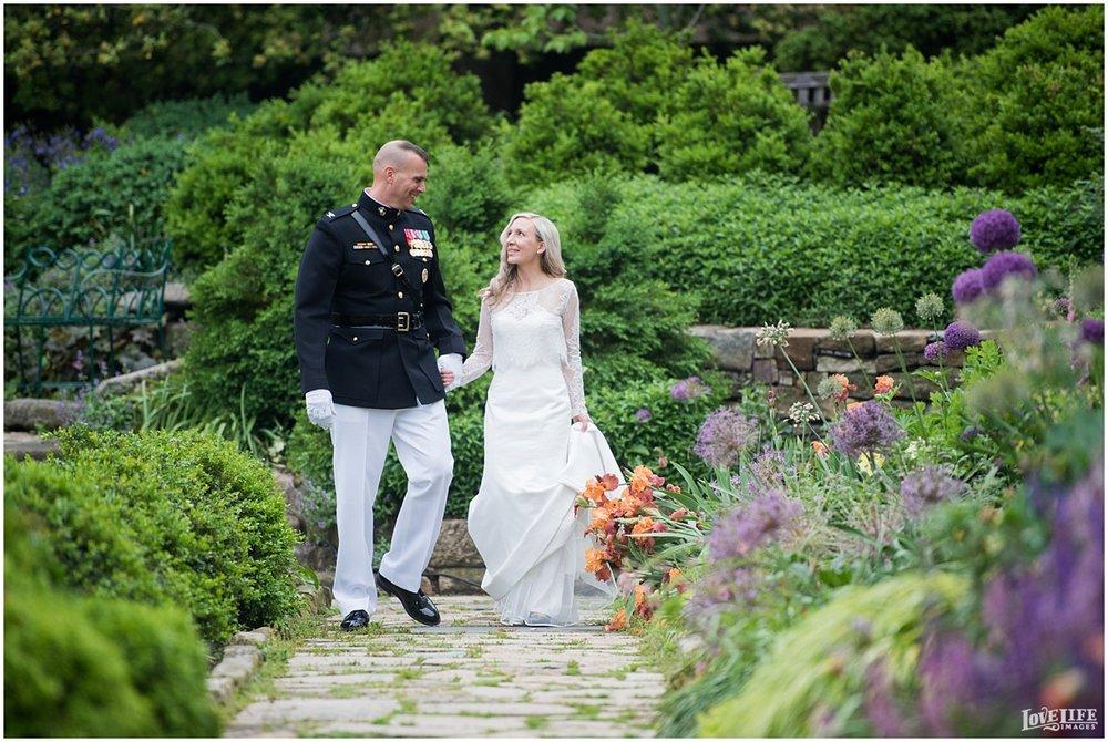 Cosmos Club DC Wedding bridal portrait in garden.jpg
