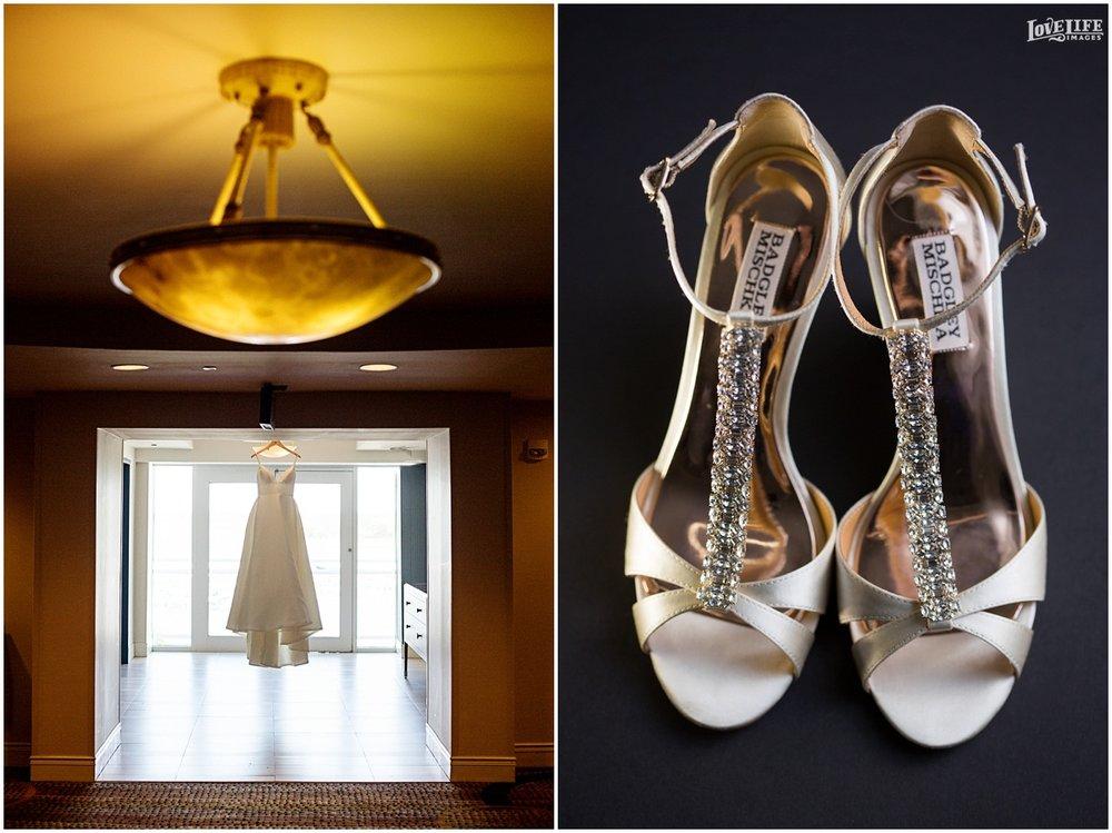 Hyatt Chesapeake Bay Wedding dress and shoes.jpg