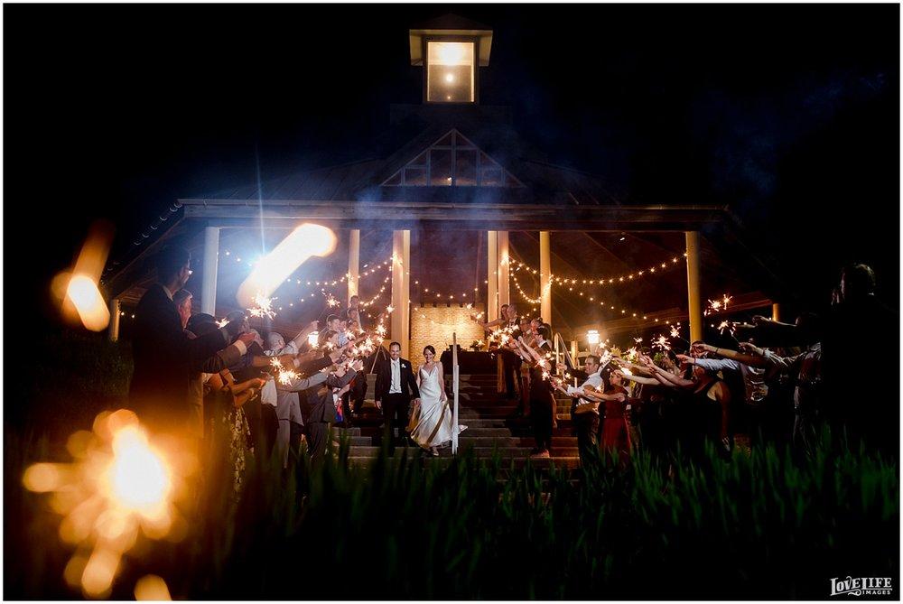 Hyatt Chesapeake Bay Wedding sparkler exit.jpg