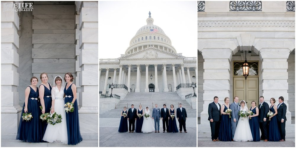 Dumbarton House DC Wedding bridal party portraits.jpg