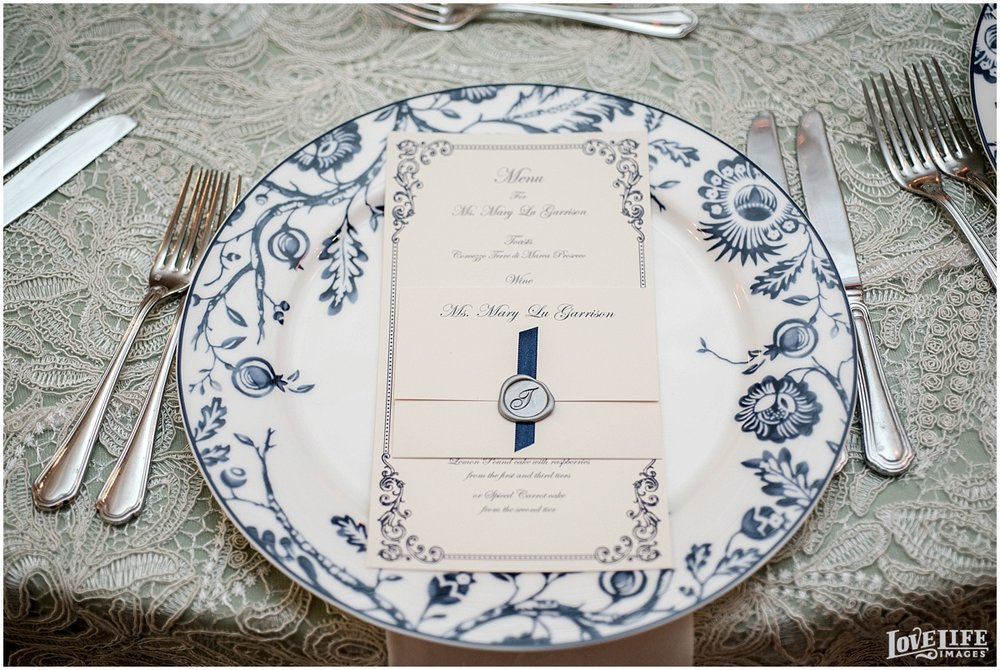 Dumbarton House DC Wedding vintage placesetting.jpg