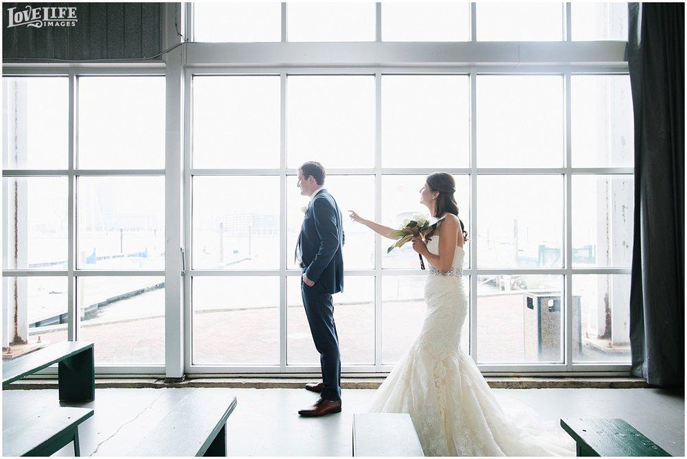 Baltimore Museum of Industry Wedding first look.jpg