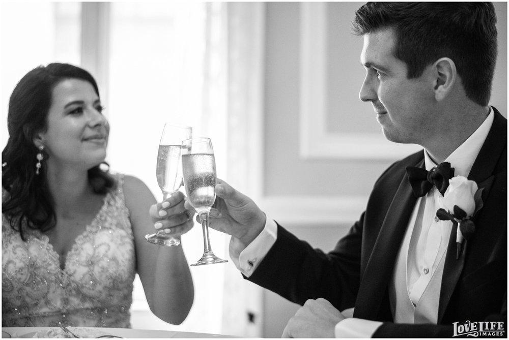 Belvedere Baltimore Wedding bride groom champagne toast.jpg