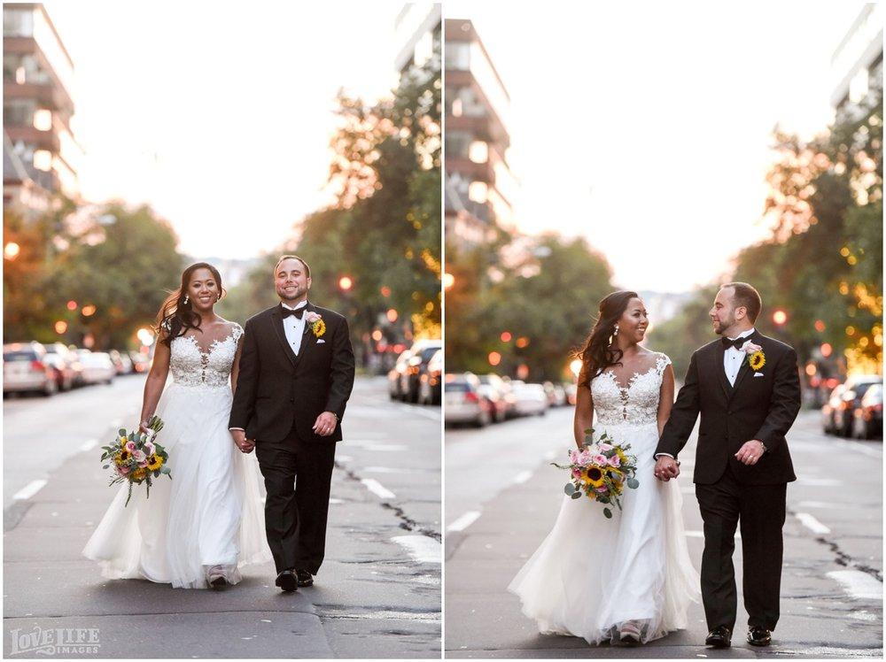 Park Hyatt DC Wedding bride and groom at sunset.jpg