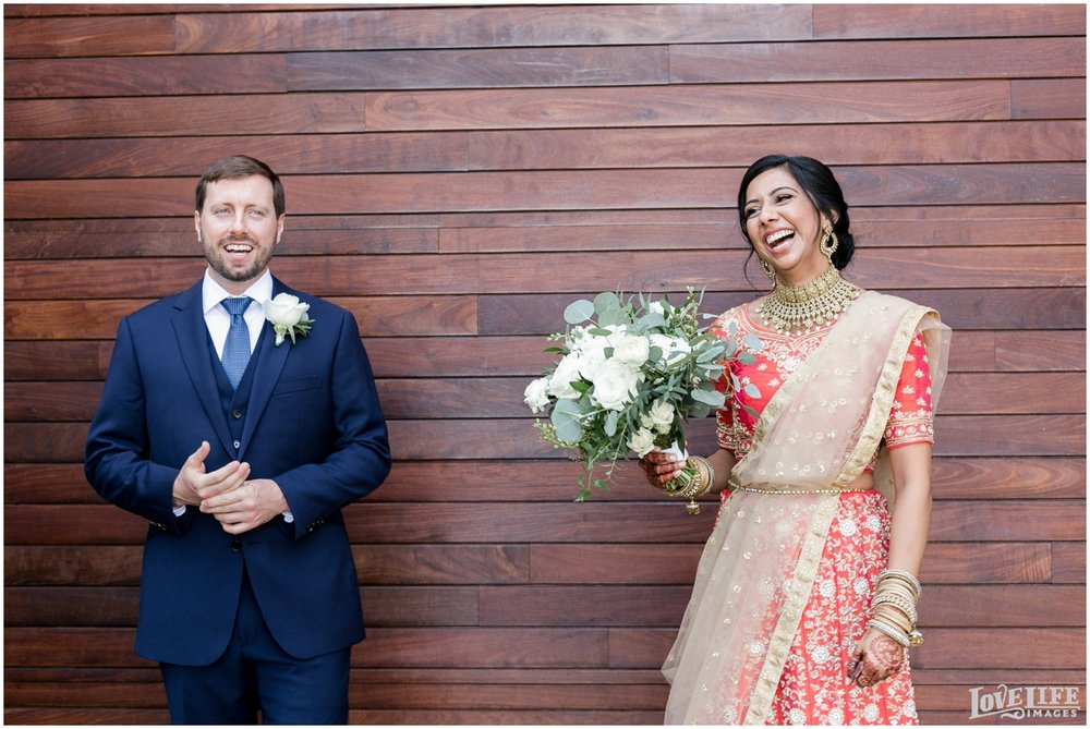 Multicultural District Winery DC Wedding bride laughing.jpg