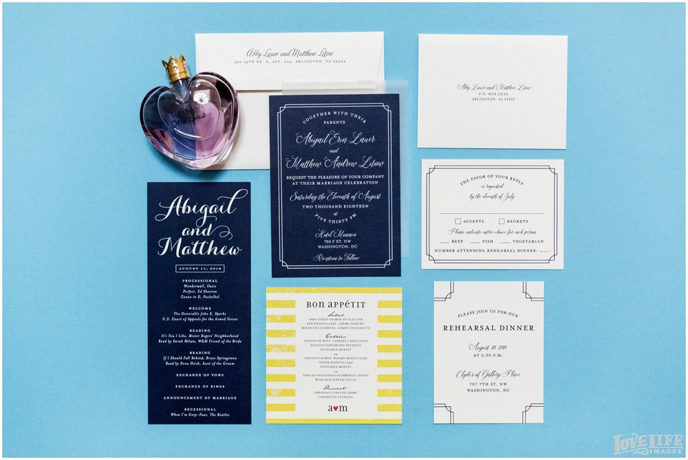 Hotel Monaco DC Wedding navy invitation suite.jpg