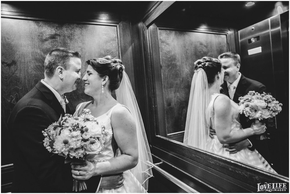 Hotel Monaco DC Wedding portrait in elevator.jpg