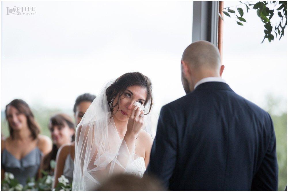 District Winery Fall DC wedding ceremony tearful bride.JPG
