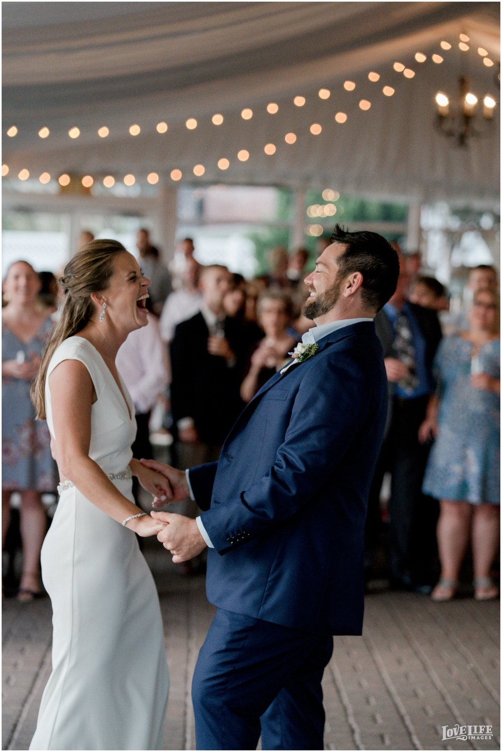 Silver Swan Bayside Wedding first dance laughing.jpg