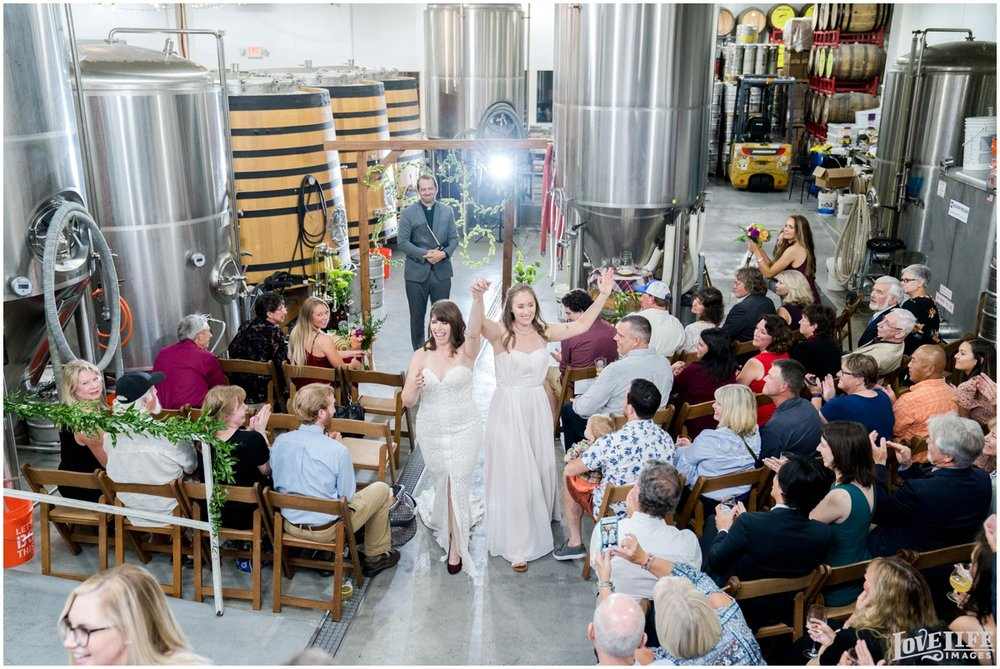 Same Sex Brewery DC Wedding newlyweds recessional.jpg