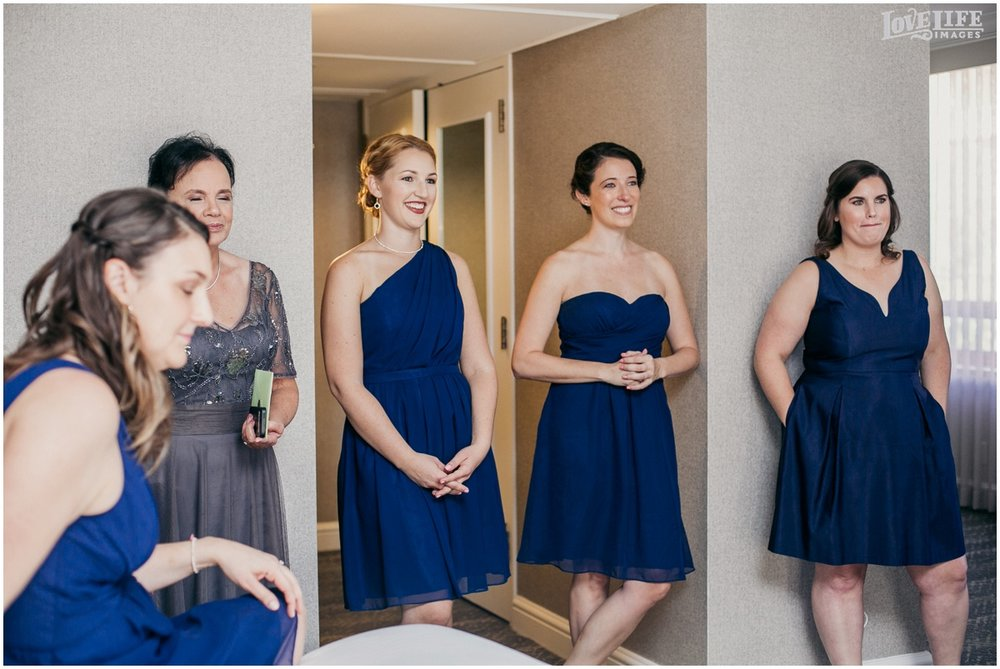 Fairmont DC Wedding bridesmaids in navy.jpg