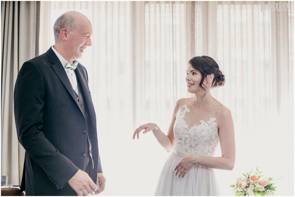 Fairmont DC Wedding bride first look with dad.jpg