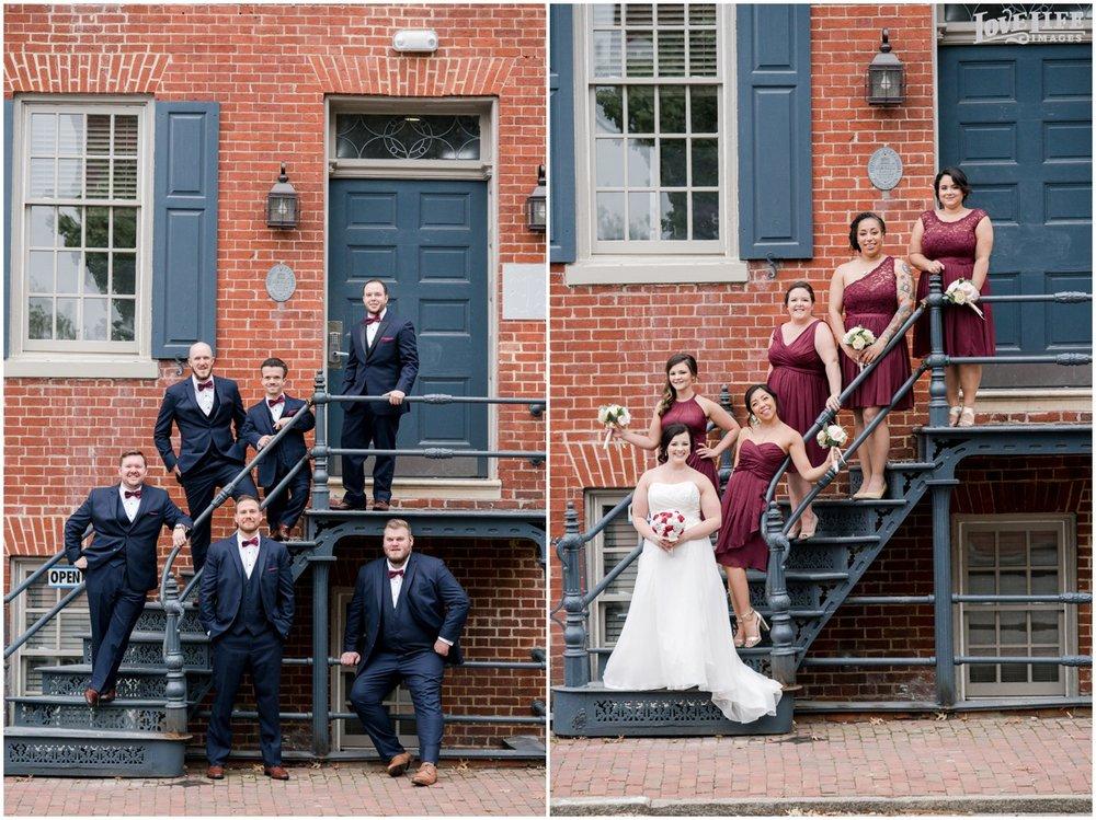 Society Fair VA Wedding group photos on staircase.jpg