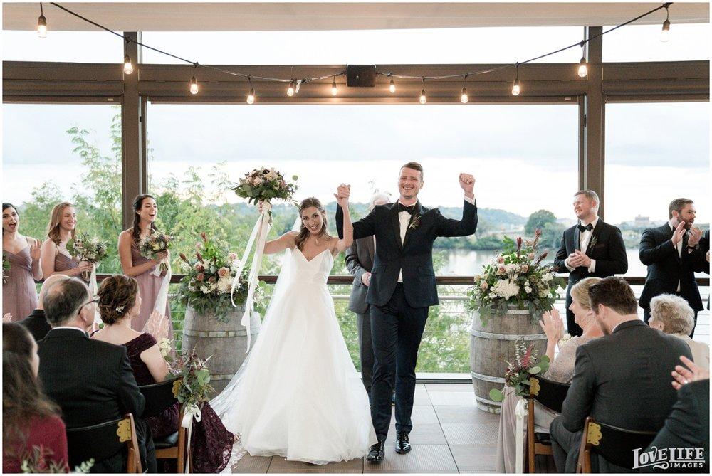 District Winery DC Wedding ceremony newlyweds.jpg