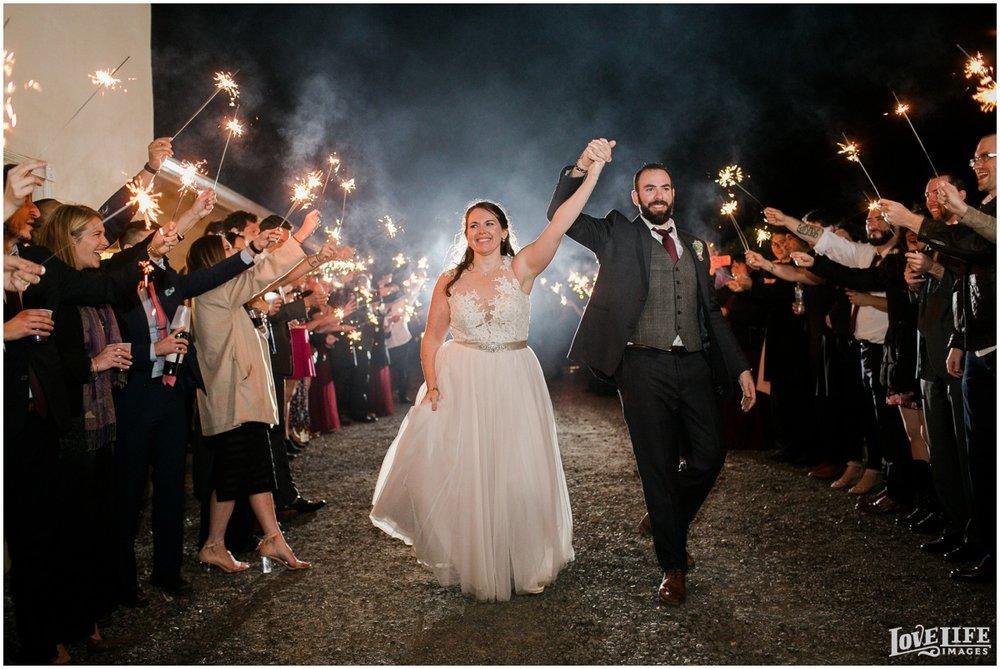 Briar Patch Inn Wedding sparkler exit.jpg
