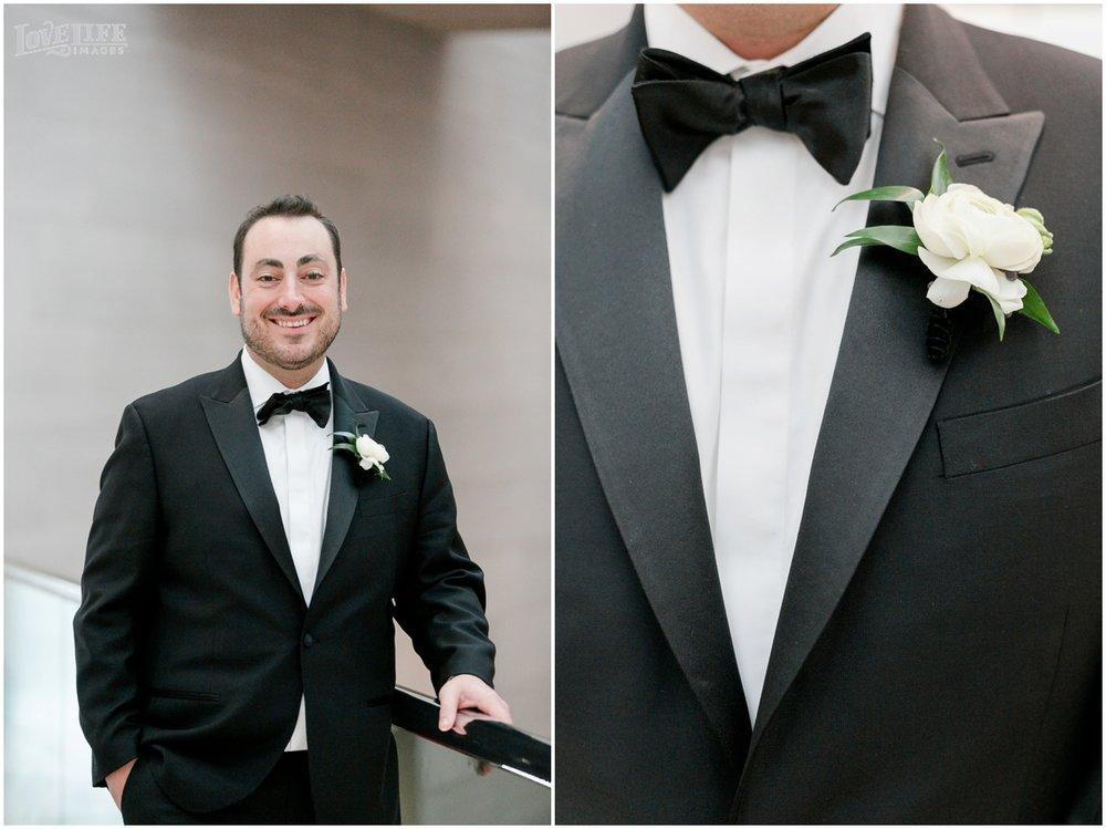 Winter District Winery Wedding groom in tuxedo.JPG