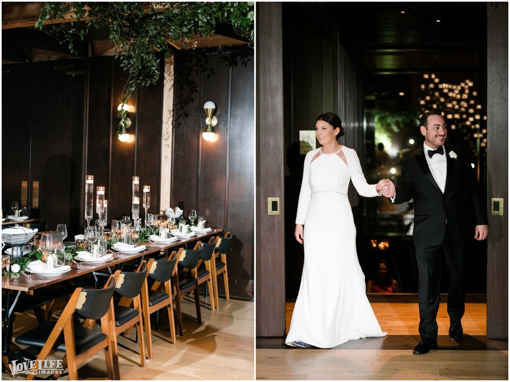 Winter District Winery Wedding bride groom enter reception.JPG