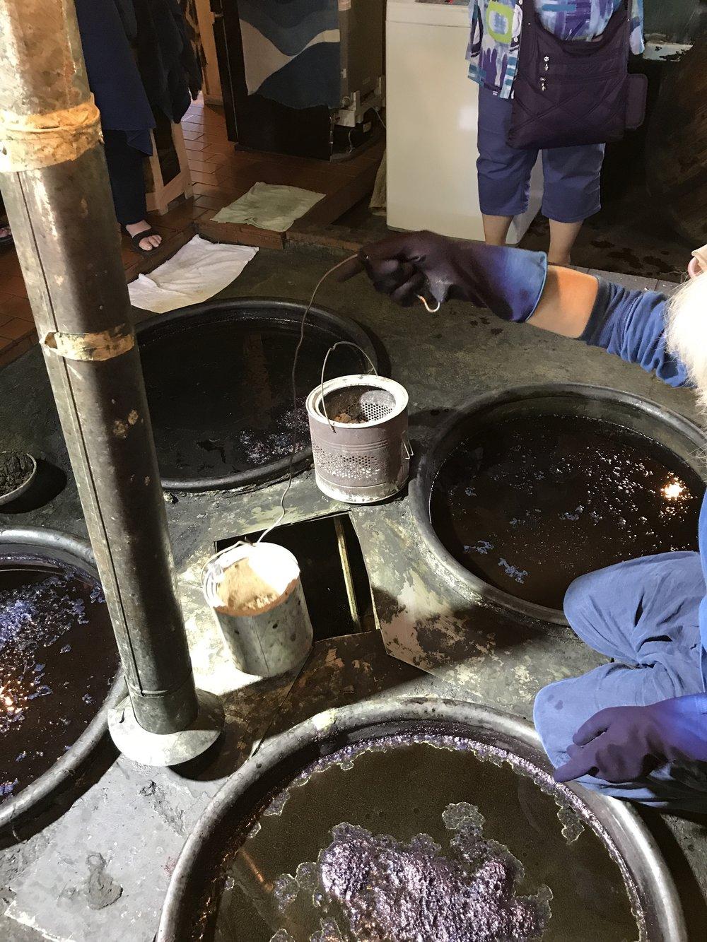 Indigo vats