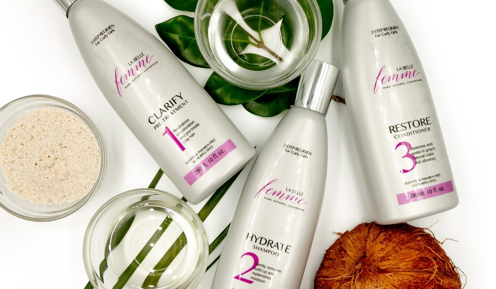 CLARIFY + HYDRATE + RESTORE =  Brilliance, Vibrancy and Shine  for silver AND blonde tresses.