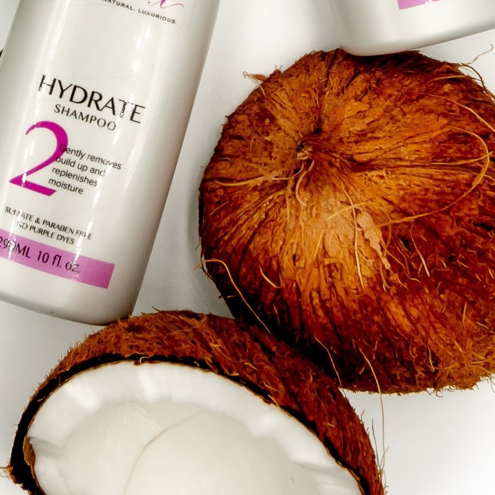 Coconut oil conditions, moisturizes and reduces breakage.