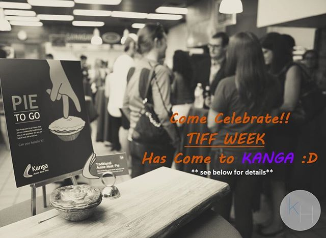 That's right mates - @eatkanga is celebrating TIFF and offering a discount to all ticket holders! Why not grab a #pietogo on your way there...or on the way back? 🤤 Offer exclusive to our 65 Duncan Street location • We are only 1 block away from all the festivities! • Conditions apply -must be in store/walk in purchase -max of 4 purchases -must have ticket present -no call ahead orders **offer expires after Sept. 16th**