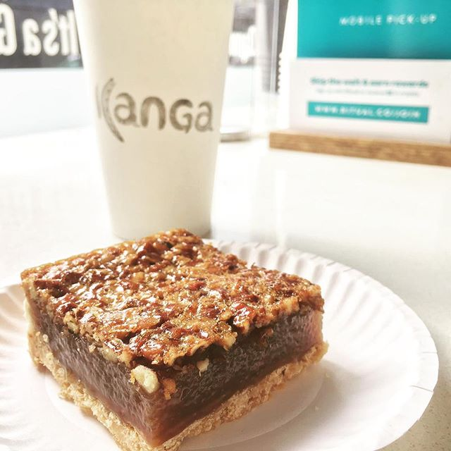 If you haven't had the chance to try our mouth watering pecan squares yet you are definitely missing out!! They're sold at all three Kanga locations. #torontofood #torontofoodie #thesix #blogto #foodinthesix #torontodesserts #kangafam #kangaloyalty
