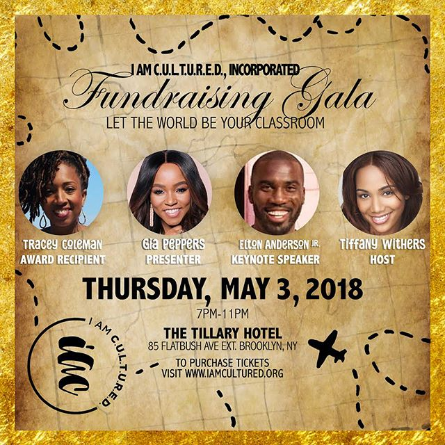 I am so excited and honored to announce that I will be the Keynote Speaker for @iamculturedinc's fundraising gala next week! This non-profit is near and dear to my heart as they send deserving teenagers on experiences around the world. This type of exposure is life changing and can set the tone for the rest of their lives. April 30th is the last day to purchase tickets, so if you're in the NYC area or simply want to donate please don't hesitate!  Host: @tiffany_withers  Presenter: @giapeppers  Award Recipient: @bktraveladdict  Keynote Speaker: @eltonandersonjr  I AM C.U.L.T.U.R.E.D., Incorporated. Is a nonprofit organization promoting self-empowerment and appreciation of cultural richness and diversity by exposing teenagers to world travel and world travel preparatory workshops.  I AM C.U.L.T.U.R.E.D., Incorporated strives to create innovative, global leaders of tomorrow to envision a life beyond their immediate communities while fulfilling personal and professional goals towards success. Your contribution minimizes the students' travel expenses when in the program.  #iamculturedgala #givethegiftoftravel #studenttravel #twostepforacause #iamculturedinc