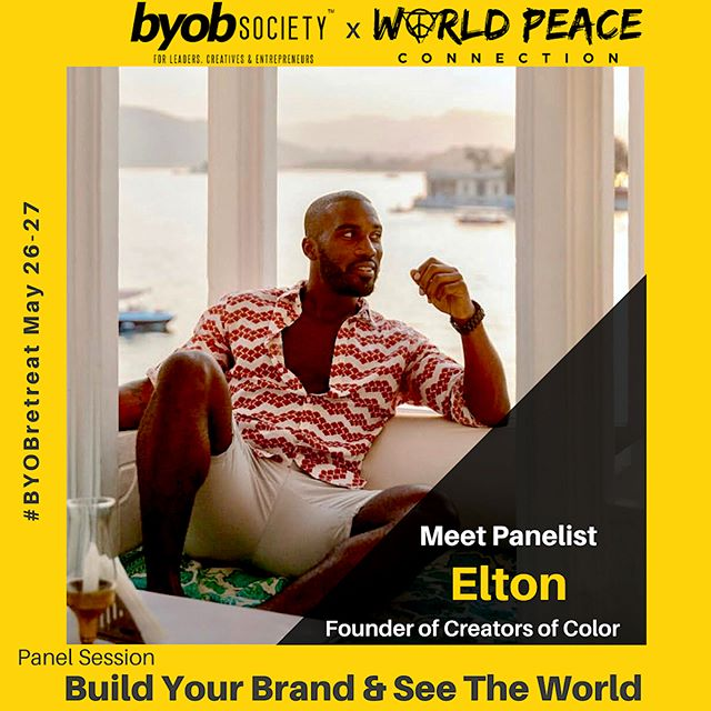 """Just landed in DC and super excited to be a part of this year's Build Your Own Brand retreat! One of the Largest gathering of diverse Millennial leaders, creatives & entrepreneurs!  @worldpeaceconnnection and @byobsociety collaborated in efforts to bring the session """"Build Your Business And See the World"""" to this year's #BYOBRETREAT.  Looking forward to an amazing discussion with my fellow panelists @racheltravels, @willedmond, @passport2pretty and @blackgirlstraveltoo!  We can't wait to see you all there!! #byobsociety #byobretreat #worldpeaceconnection"""