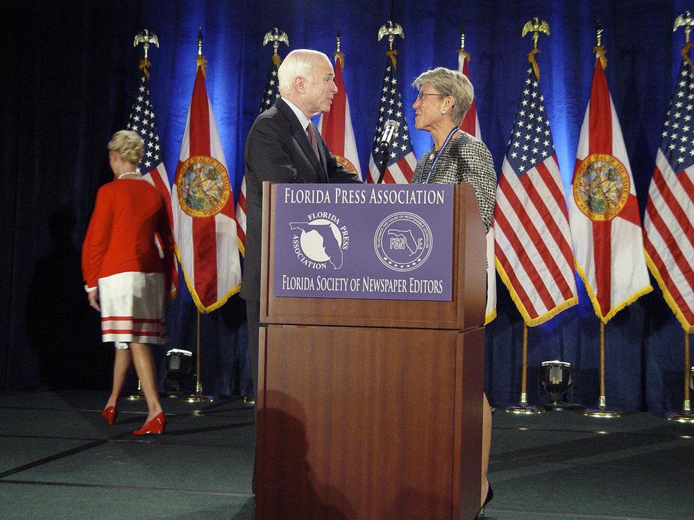 Marty Petty and John McCain FL Press Association 2008 (c) Mark Petty